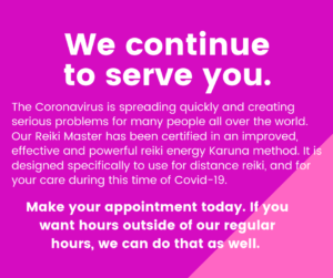 Serving you with distance reiki