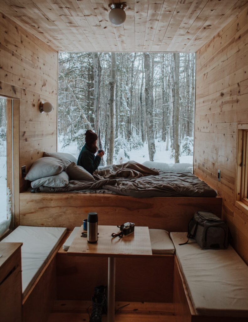 bedroom with a view of trees